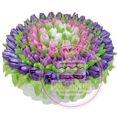 Торт «Полянка тюльпанов»