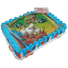Фото-торт «Пиратская карта»