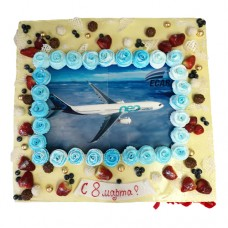Торт на 8 марта для ИЦ «ECAR»