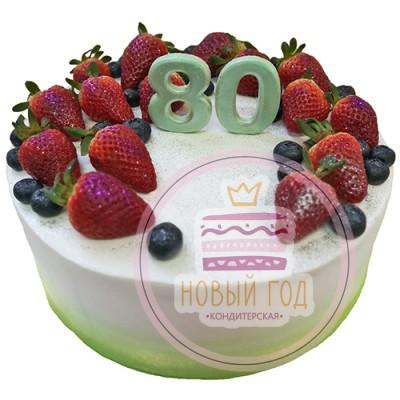 Торт «Триколор с ягодами»