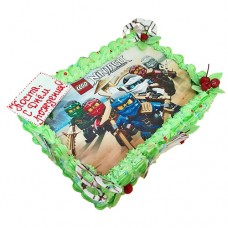 Торт с картинкой «Ниндзяго»