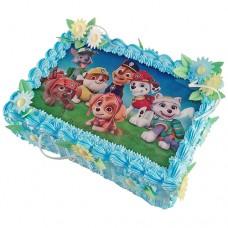 Торт с картинкой «Щенячьего патруля»