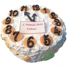 Новогодний торт «Часы»