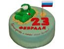 Торт с танкистом на 23 февраля