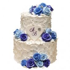 Торт «Синие розы»