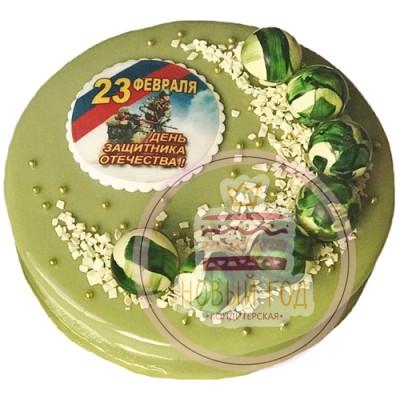 Зеленый торт на 23 февраля