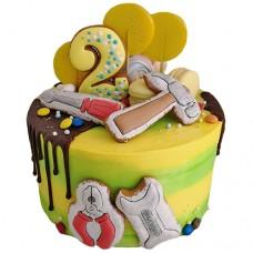 Торт с пряниками в виде инструментов