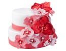 Торт с красными орхидеями