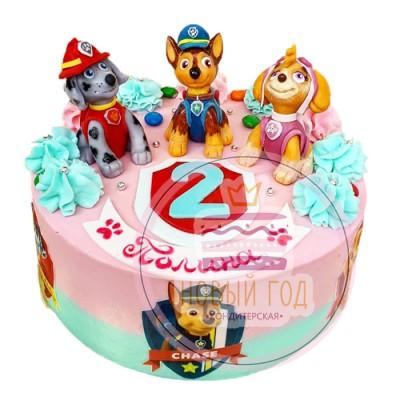 Торт с героями м/ф «Щенячий патруль»