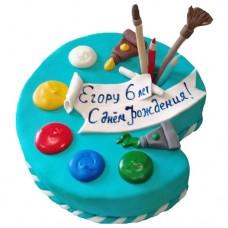 Торт «Палитра с красками»