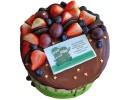 Торт на 23 февраля с открыткой