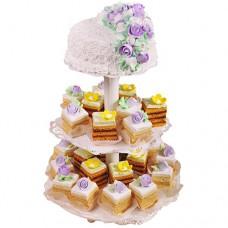 Свадебный торт с порционными пирожными