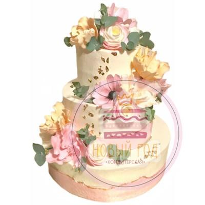 Свадебный торт «Цветущий сад»
