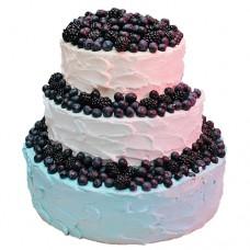 Свадебный торт с голубикой и ежевикой
