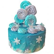 Торт на Новый Год с безе