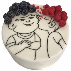 Торт «Поцелуй» на день рождения для мужа