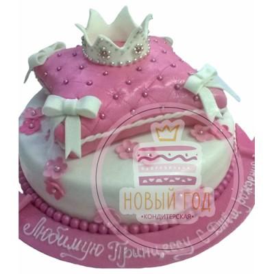 Торт «Подушка с короной»