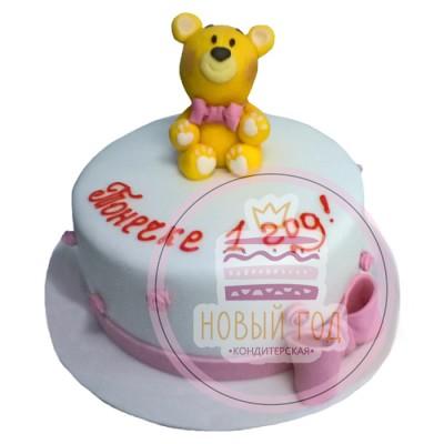 Торт на 1 год с медвежонком