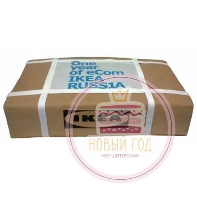 Торт для Икеи в виде упаковочной коробки