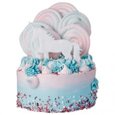 Торт с единорогом и безе для девочки