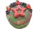 Торт на 23 февраля с пряником в виде звезды
