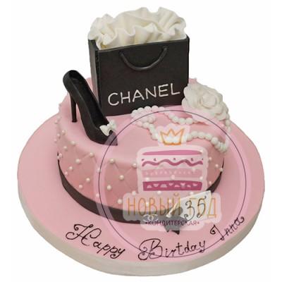 Торт с туфелькой «Шанель»