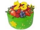 Торт на 23 февраля с ягодами