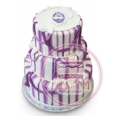 Полосатый свадебный торт