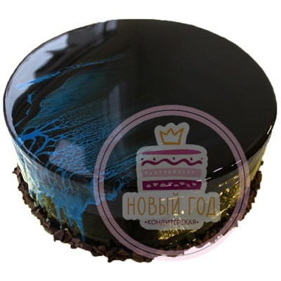 Зеркальный торт «Ночной водопад»
