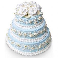 Свадебный торт с кремовым декором