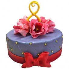 Торт на 8 марта «Букет тюльпанов»