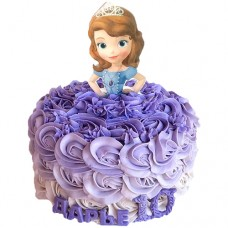 Торт с прекрасной Софией на день рождения