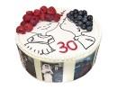 Торт на годовщину свадьбы 30 лет