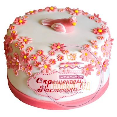 Торт на крещение для девочки