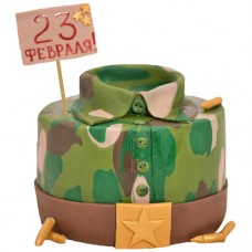 Торт в виде военной рубашки