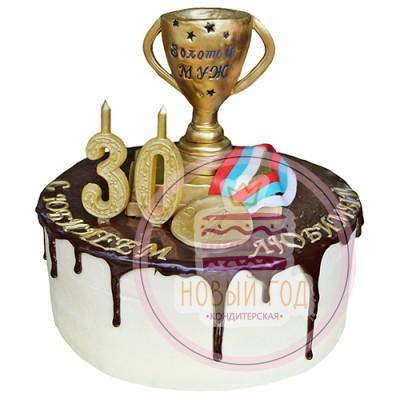 Торт с кубком «Золотой муж»