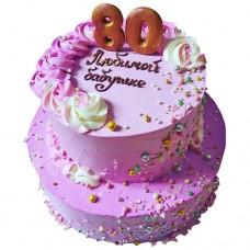 Двухъярусный торт на 80-летие