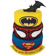 Торт «Марвел» с супергероями
