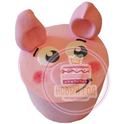 Торт в виде свиньи на Новый Год