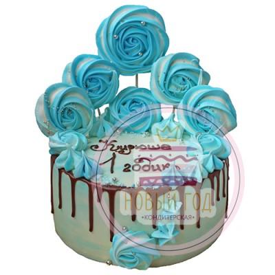 Торт на 1 годик с безе