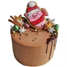 Торт на Новый Год 2019 с пряником