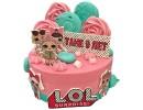 Торт с куклами LOL на 9 лет