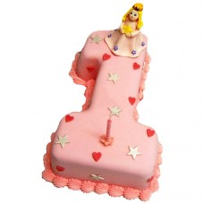 Торт с принцессой на 1 год
