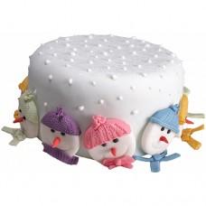 Торт «Снеговики»