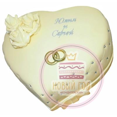 Торт «Сердечное послание»