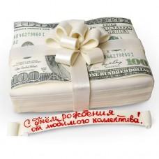 Торт «Пачка денег»