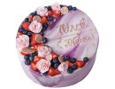 Торт на 70 лет с ягодами и розами
