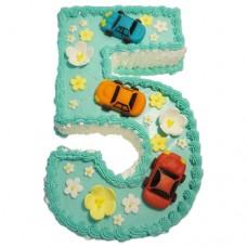 Кремовый торт с машинками на 5 лет