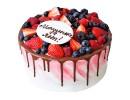 Торт с ягодами на день рождения
