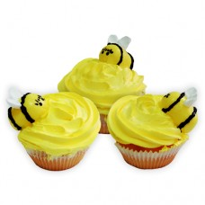 Детские капкейки с пчелкой